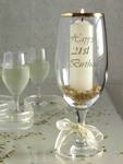 21st birthday champagne glass candle holder