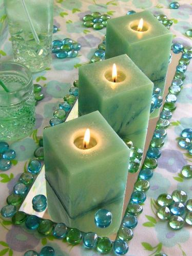 Create candle centerpieces without flowers