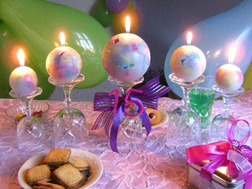 Birthday centerpieces | Fun candles for birthdays