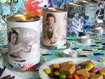 candle tins featuring photos of birthday person